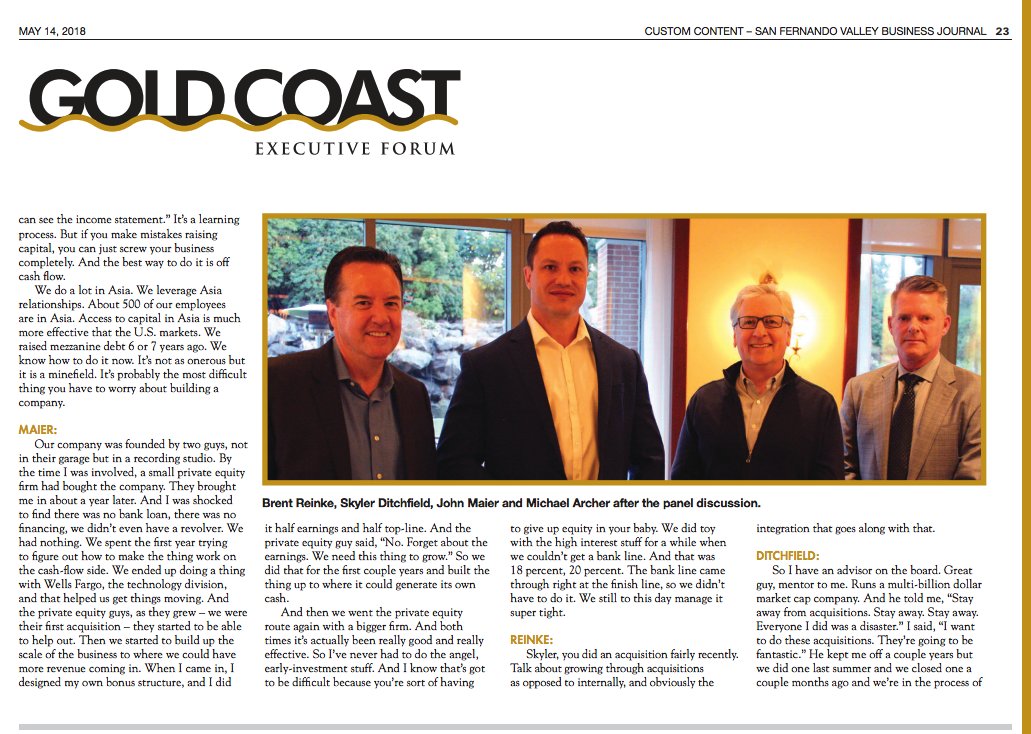 SFVBJ Gold Coast Executive Forum - Featuring Skyler Ditchfield