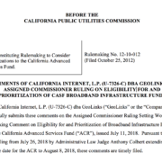 Modifications to the California Advanced Services Fund