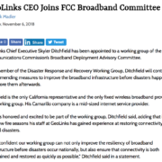 GeoLinks CEO Joins FCC Broadband Committee