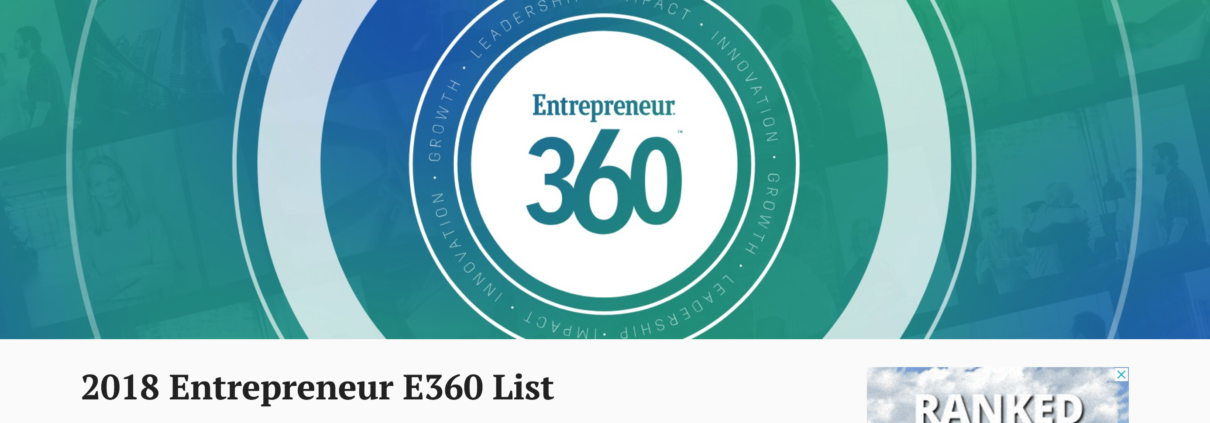 "GeoLinks Named One of the ""Best Entrepreneurial Companies in America"" by Entrepreneur Magazine's Entrepreneur 360™ List"