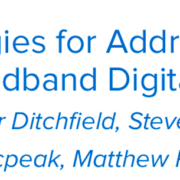 Strategies for Addressing the Broadband Digital Divide - CENIC