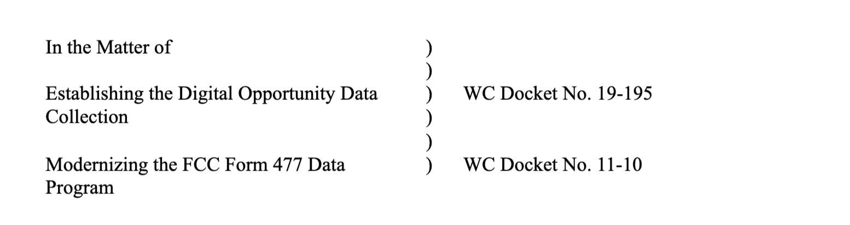 Establishing the Digital Opportunity Data Collection - GeoLinks